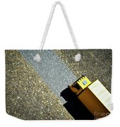 Yellow Car On The Stone Pavement Weekender Tote Bag