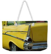 Yellow Chevrolet Tail Fin Weekender Tote Bag