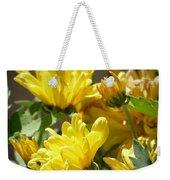 Yellow Chrysanthemum Weekender Tote Bag