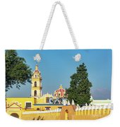 Yellow Church In Cholula, Mexico Weekender Tote Bag