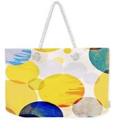 Yellow Circles Weekender Tote Bag