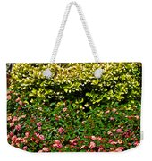 Yellow Coleus And Lantana At Pilgrim Place In Claremont-california Weekender Tote Bag
