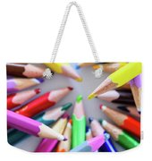 Yellow. Colored Pencils Used By Children Weekender Tote Bag
