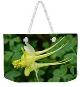 Yellow Columbine Profile Weekender Tote Bag