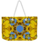 Yellow Coneflower Kaleidoscope Weekender Tote Bag