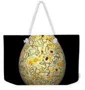 Yellow Conglomerate Egg Weekender Tote Bag