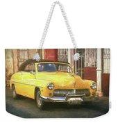 Yellow Convertible Mercury Weekender Tote Bag