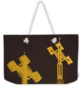 Yellow Crosses Weekender Tote Bag