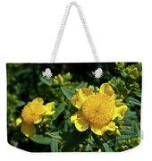 Yellow Crown Flower Weekender Tote Bag