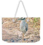 Yellow Crowned Night Heron Along The Tidal Creek Weekender Tote Bag
