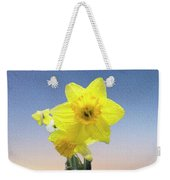 Yellow Daffodil On Canvas Weekender Tote Bag