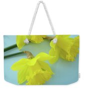 Yellow Daffodils Artwork Spring Flowers Art Prints Nature Floral Art Weekender Tote Bag