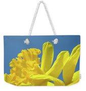 Yellow Daffodils Flowers Art Blue Sky Spring Baslee Troutman Weekender Tote Bag