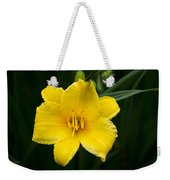 Yellow Daylily Flower Weekender Tote Bag
