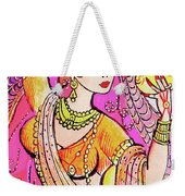 Yellow Devi Weekender Tote Bag