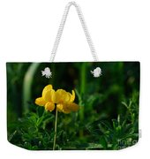 Yellow Dew Drops Weekender Tote Bag
