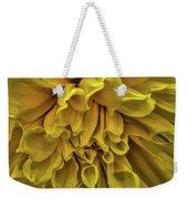 Yellow Dinner Plate Dahlia Weekender Tote Bag