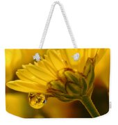 Yellow Drip Weekender Tote Bag