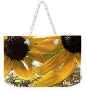 Yellow Droplet Petals Weekender Tote Bag