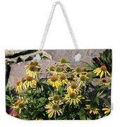 Yellow Echinacea, Straw Flowers Gray Stone Background 2 9132017  Weekender Tote Bag