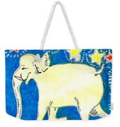 Yellow Elephant Facing Left Weekender Tote Bag by Sushila Burgess