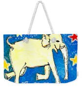 Yellow Elephant Facing Right Weekender Tote Bag