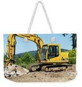 Yellow Excavator In Anacortes Weekender Tote Bag