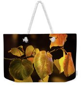 Yellow Fall Leaves Weekender Tote Bag