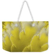 Yellow Feather Weekender Tote Bag
