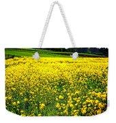 Yellow Field Weekender Tote Bag