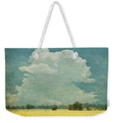 Yellow Field On Old Grunge Paper Weekender Tote Bag by Setsiri Silapasuwanchai