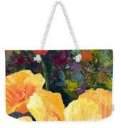 Yellow Field Poppies Weekender Tote Bag