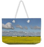 Yellow Fields And Blue Clouds Weekender Tote Bag