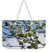 Yellow Finch And Flowers Weekender Tote Bag