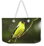 Yellow Finch Perching Weekender Tote Bag