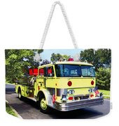 Yellow Fire Truck Weekender Tote Bag