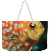 Yellow Fish Profile Weekender Tote Bag