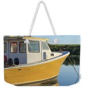 Yellow Fishing Boat Early Morning Weekender Tote Bag