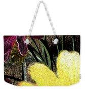 Yellow Floral Weekender Tote Bag
