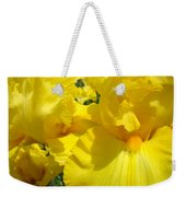 Yellow Floral Irises Flowers Art Prints Baslee Troutman Weekender Tote Bag