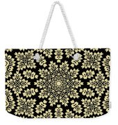 Yellow Floral Ornament Design Weekender Tote Bag