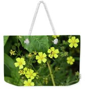 Yellow Flower And A Black Bug  Weekender Tote Bag