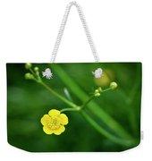 Yellow Flower Buttercup Weekender Tote Bag