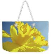 Yellow Flower Floral Daffodils Art Prints Spring Blue Sky Baslee Troutman Weekender Tote Bag