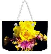 Yellow Flower On Black Weekender Tote Bag