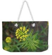 Yellow Flower Weed Weekender Tote Bag
