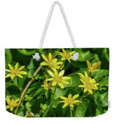 Yellow Flowers On A Green Carpet Weekender Tote Bag