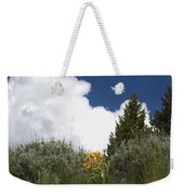 Yellow Flowers White Cloud Weekender Tote Bag