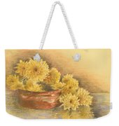 Yellow Flowers With Still Life Weekender Tote Bag