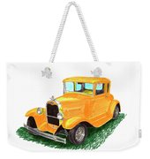 1932 Yellow Ford Hot Rod Coupe Weekender Tote Bag